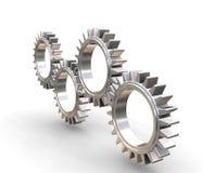 Interlocking gears. 3D render of interlocking gears Royalty Free Stock Photos