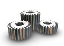 Interlocking gears Royalty Free Stock Images