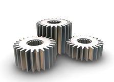 Interlocking gears Royalty Free Stock Images