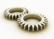 Interlocking gears Royalty Free Stock Photography