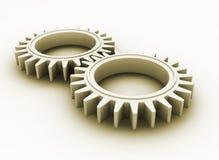 Interlocking gears Royalty Free Stock Photography