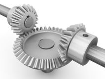 Interlocking gears Royalty Free Stock Photo