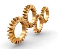 Interlocking gears Stock Images