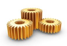 Interlocking gears Stock Photo