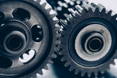 Interlocking gears Stock Image