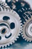 Interlocking gears Stock Image