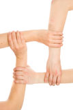 Interlocking hands Royalty Free Stock Photos
