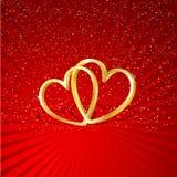 Interlocking hearts Stock Photography