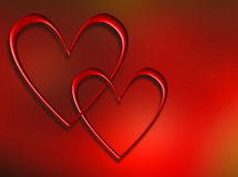 Interlocking hearts Royalty Free Stock Image