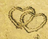 Interlocking hearts royalty free illustration