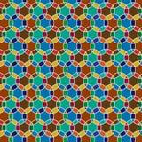 Interlocking Moroccan circle tiles Stock Images