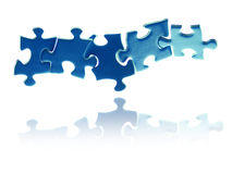 Interlocking puzzle pieces Royalty Free Stock Photos