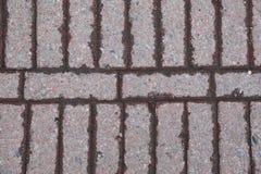 interlocking sten för körbana Arkivfoto