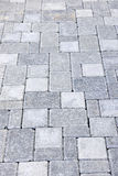 Interlocking stone driveway. Gray interlocking paving stone driveway from above Royalty Free Stock Photography