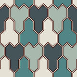 Interlocking three pronged blocks background. Mosaic seamless pattern with geometric figures. Oriental pavement ornament. Interlocking three pronged blocks vector illustration