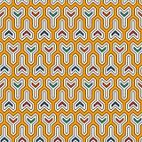 Interlocking three pronged blocks background. Winder keys motif. Ethnic seamless surface pattern with geometric figures. Interlocking three pronged blocks Stock Image
