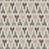 Interlocking three pronged blocks background. Winder keys motif. Ethnic seamless surface pattern with geometric figures. vector illustration