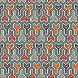Interlocking three pronged blocks background. Winder keys motif. Ethnic seamless surface pattern with geometric figures. Interlocking three pronged blocks Royalty Free Stock Image