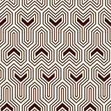 Interlocking three pronged blocks background. Winder keys motif. Ethnic seamless surface pattern with geometric figures. Interlocking three pronged blocks Stock Images