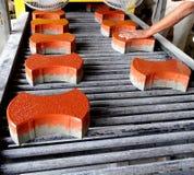 Interlocking Tiles in process of Construction Stock Photo