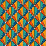 Interlocking triangles tessellation. Contemporary print with repeated scallops. Seamless pattern with fish scales. Interlocking triangles tessellation Royalty Free Stock Image