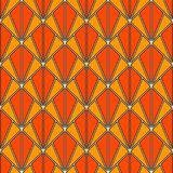 Interlocking triangles tessellation. Contemporary print with repeated scallops. Seamless pattern with fish scales. Interlocking triangles tessellation royalty free illustration