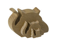 Interlocking Wooden Cats Stock Image