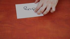 Interlocutor draws the word buy Stock Photo