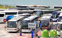 Interlokale bussen Royalty-vrije Stock Foto