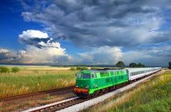 Interlokale trein stock afbeelding