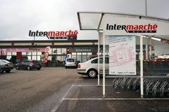 Intermarchésupermarkt royalty-vrije stock fotografie