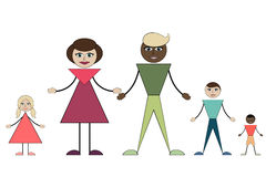 Intermarriage. Young family with three children Stock Image