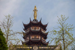 Intermediate composition shot pagoda Stock Images