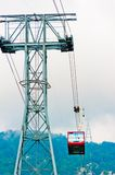 Intermediate support and cableway on Mount Tahtalı. Royalty Free Stock Image