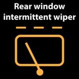 Intermittent torkaretecken för bakre fönster, illustrationsymbol, dtckodfel, dasboard royaltyfri illustrationer
