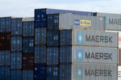 Intermodal containers Stock Photos