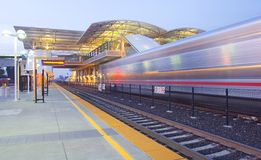 Intermodal Rapid Transit Station & Commuter Train Royalty Free Stock Photos