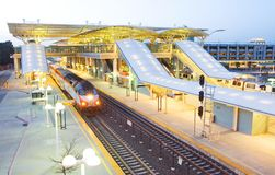 Intermodal Rapid Transit Station, Millbrae, CA Stock Photos