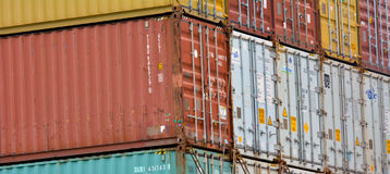 Intermodal shipping containers Royalty Free Stock Photos