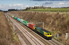 Intermodal train Stock Images