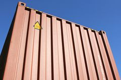 Intermodal vrachtcontainer 02 Stock Foto's