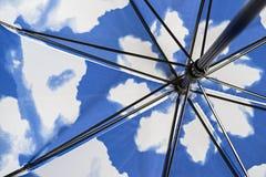Intern mechanisme van een vouwende paraplu Stock Afbeelding