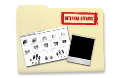 Internal Affairs Investigation Elements. In a Folder Royalty Free Stock Photo