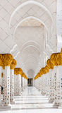 Internal arches in the mosque Royalty Free Stock Photo