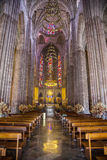Internal architecture to detail of catholic church in Guadalajar Royalty Free Stock Images