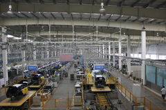 Internal of the assembly plant Stock Photography