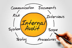 Internal Audit. Process circle, business concept royalty free stock image