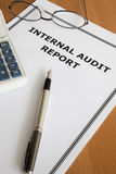 Internal Audit Report Royalty Free Stock Photography