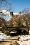 Internal Central Park Bridge View. Central Park Bridge View - Winter 2014 Stock Photo