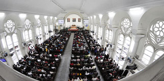 Internal Church Aerial View Royalty Free Stock Images